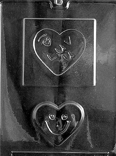 I Love You Plaque V93 Mold Chocolate Candy soap Making Valentine,- Limits