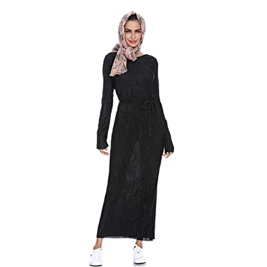5f5c73e9b7b iHAZA Hijab Femme Musulmane Dubai Long Hijabs Robe Foulard Écharpes de  Couleur Unie Arabie Islamique Ladies