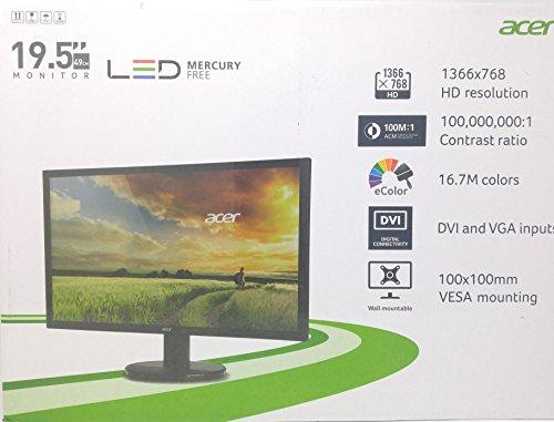 Acer 19.5 Monitor LED Mercury Free