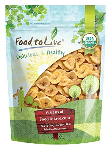 Food to Live Certified Organic Banana Chips (Non-GMO, Unsulfured, Bulk) (2 Pounds)