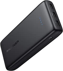 Portable Charger RAVPower 32000mAh Power Bank USB Battery Pack 3-Port Power Battery Pack High-Capacity External Battery for iPad Pro iPhone 11 Pro Max Xr Samsung Galaxy S10 Note 10 Pixel Oneplus