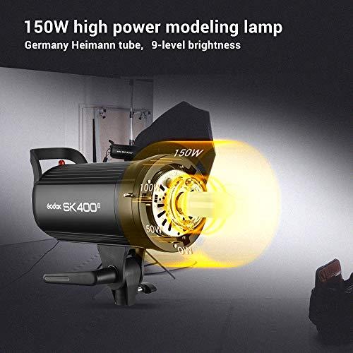 Godox SK400II Studio Strobe 400Ws GN65 5600K Bowens Mount Monolight, Built-in Godox 2.4G Wireless System, 150W Modeling Lamp, Outstanding Output Stability, Anti-Preflash, 1/16-1/1 40 Steps Output by Godox (Image #2)