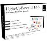 KEPLIN A4 Enhanced Energy Efficient LED Cinematic Light up Your Life Letter Box with 90 Multi Coloured Characters/Symbols, Storage USB Lead