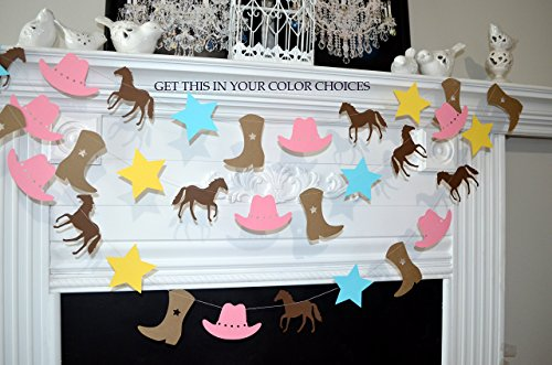 cowgirl banner, cowgirl party decorations pink cowgirl cowgirl party theme decorations cowgirl party ideas]()