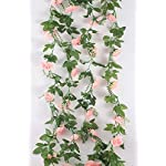 MARJON-Flowers2-Pack-Artificial-Rose-Vine-Fake-Rhododendron-Silk-Flowers-Garlands-Hanging-Ivy-Plants-Home-Hotel-Office-Wedding-Party-Garden-Dcor-Pink