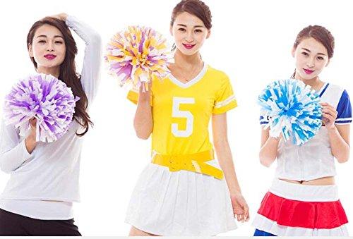 créatifs de sport Cheerleading 2 Orange Pom Poms Ensemble Accessoires cheerleaders ptTp7q