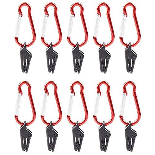 LEZED Tarp Clip Tent Clips met Carabiner Luifel Klem Luifel Clip Houder Winddicht Plastic Luifel Klem Lock Grip voor…