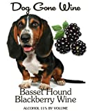 NV Dog Gone Wine- Basset Hound Blackberry Fruit