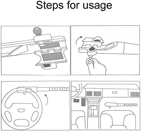 Serratura Auto Baseball Stile Volante Blocco Antifurto Blocco Guardia Di Sicurezza Strumento