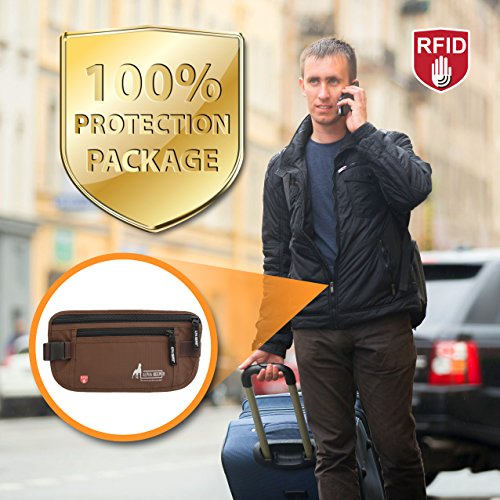 RFID Money Belt For Travel With RFID Blocking Sleeves Set For Daily Use by Alpha Keeper (Image #5)