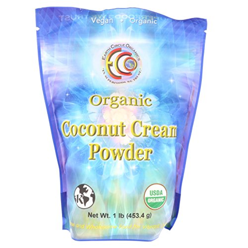 Earth Circle Organics Coconut Cream Powder 1 lb (Coconut Powder Milk Organic)