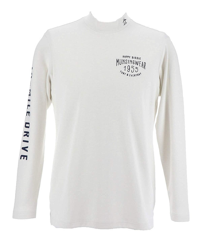 マンシング ゴルフウェア 長袖シャツ メンズ 右袖ロゴヒートナビハイネックシャツ MGMMJB09 WH00 L   B07JMQYCS7