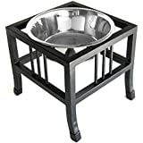 """Baron Single Bowl Dog Feeder - Elevated Diner - 5"""" Tall"""