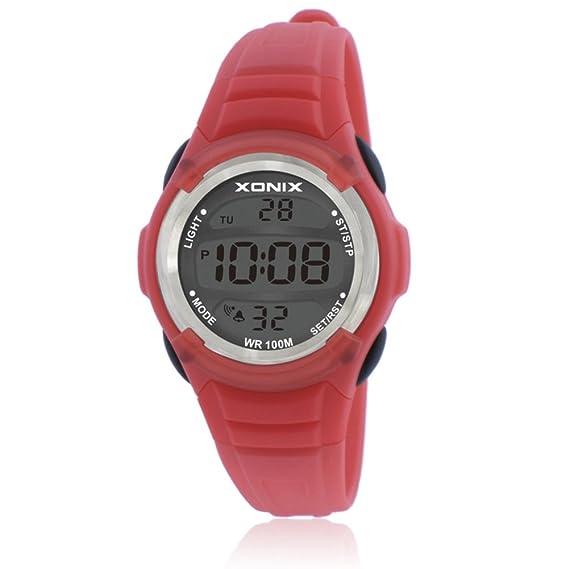 Reloj de niños led digital tiempo luminoso impermeable multifunción chica niño estudiante reloj digital-F: Amazon.es: Relojes