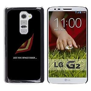 A-type Arte & diseño plástico duro Fundas Cover Cubre Hard Case Cover para LG G2 (See You Espacio)