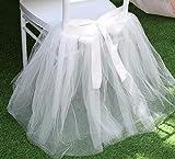 UNIQOOO Chair Tulle Tutu Decoration for Bridal