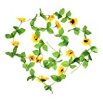 UUPP-2Pcs-85FT-Artificial-Sunflower-Garland-Silk-Fake-Flower-Ivy-Vines-for-Home-Hotel-Office-Garden-Wedding-Party-Outside-Decoration