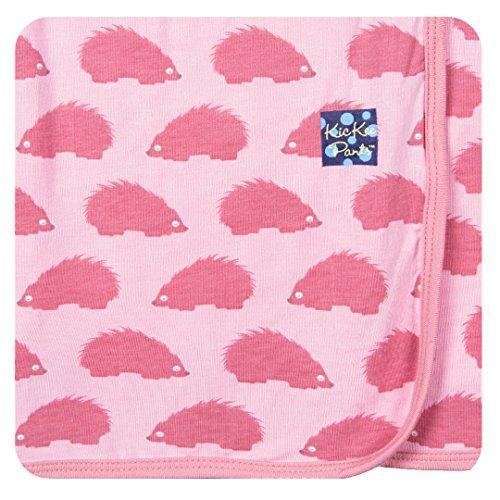 Kickee Pants Newborn Swaddling Receiving Blanket, Little Girls- Lotus Porcupine, One Size