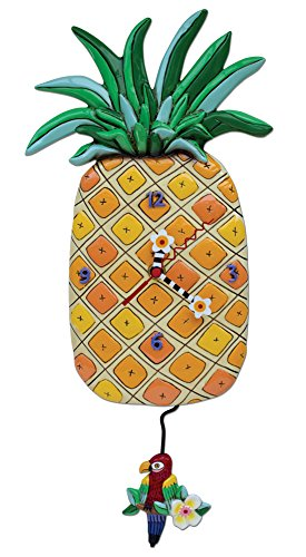 (Allen Designs Island Time Pineapple Clock)