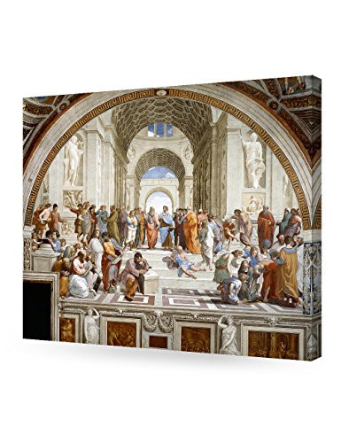 DecorArts - The School of Athens, Raphael Art Reproduction. Giclee Canvas Prints Wall Art for Home Decor 24x20