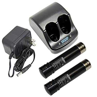 HQRP Battery Charger and Two Batteries Compatible with Black & Decker 3.6V Versapak VP100 VP110 22-4040 22-4035 VP130 VP100C VP105C VP110C 152370-03 Power Tools + HQRP Coaster