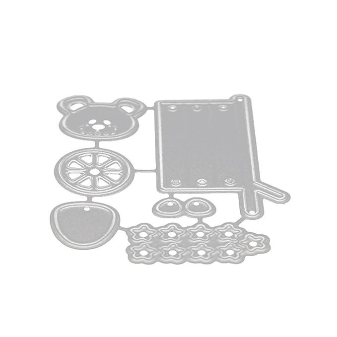 Plantillas de metal Veyikdg con diseño de flores y corazones para niños, álbumes de recortes, tarjetas, recortes, manualidades, etc, ღI, talla única: ...