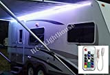 Premium RV LED Camper Awning Boat 16' Light Set with 20 key RF Remote RGB 16' ft Waterproof