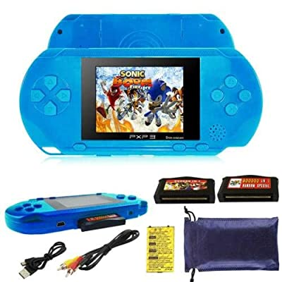 RONSHIN PXP3 Portable Handheld Built-in Video Game Gaming Console Player Retro Games Light Blue: Electronics