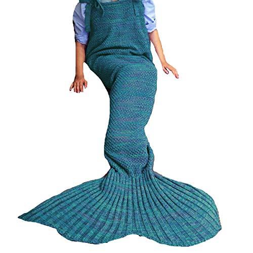 Coroler Stylish Queen Mermaid Blanket Elegant Sleeping Bags for Girls and Women, for Christmas,Halloween and -