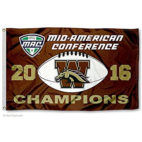 Western Michigan Broncos 2016 MAC Champions Flag