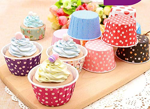 Fuser Paper - Cup Cake - 3500pcs Lot 50 39mm Assorted Candy Muffin Cup Cake Baking Cups Dot Striped Cupcake Liners Ice Cream - Mat Paper Single Peel Toys Accessories Ornaments Kids Non Face