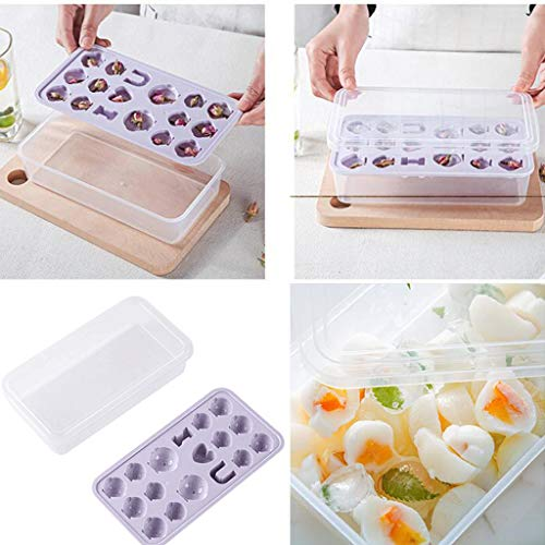 (Ice Cube Trays, Easy-Release Silicone and Flexible 17-Ice Trays, LFGB Certified and BPA Free, Stackable Durable and Dishwasher Safe)