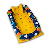 Ukeler Baby Bassinet for Bed - Dinosaur Baby Lounger - 100% Cotton Portable Cribs for Bedroom/Travel - Breathable & Hypoallergenic Co-Sleeping Baby Bed for Boys
