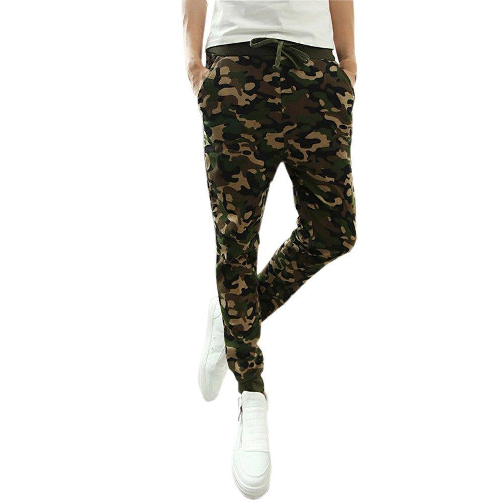 LINK Mens Fashion Camouflage Trousers Jogging Pants Casual Pants Sweatpants