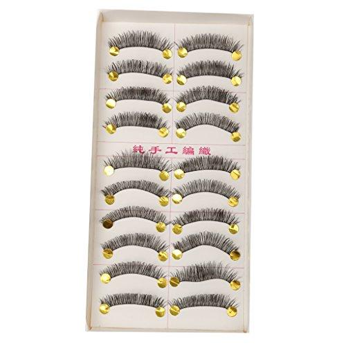 Spanking Beauty 10 Pairs Popular Messy Cross False Eyelashes Soft Long Eye Lashes