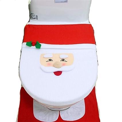 Super Amazon Com Linggt Christmas Toilet Seat Covers Santa Claus Machost Co Dining Chair Design Ideas Machostcouk