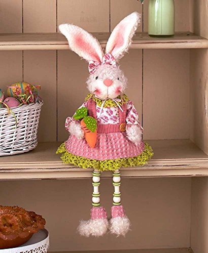 The Lakeside Collection Easter Bunny Shelf Sitters- Girl Bunny