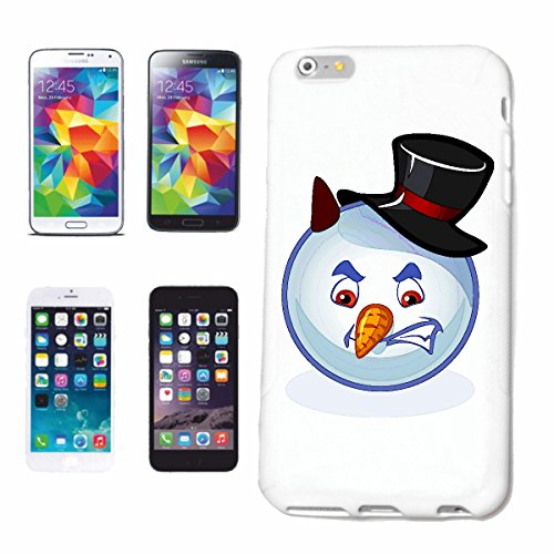 "cas de téléphone iPhone 6 ""Devilish SNOWMAN SMILEY AVEC CHAPEAU ""smile EMOTICON APP de SMILEYS SMILIES ANDROID IPHONE EMOTICONS IOS"" Hard Case Cover Téléphone Covers Smart Cover pour Apple iPhone en b"