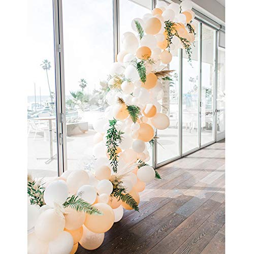Soonlyn Blush White Latex Balloons 100 Pcs 10 Inch Peach Balloons Party Balloons for Wedding Party Bridal Shower Baby Shower