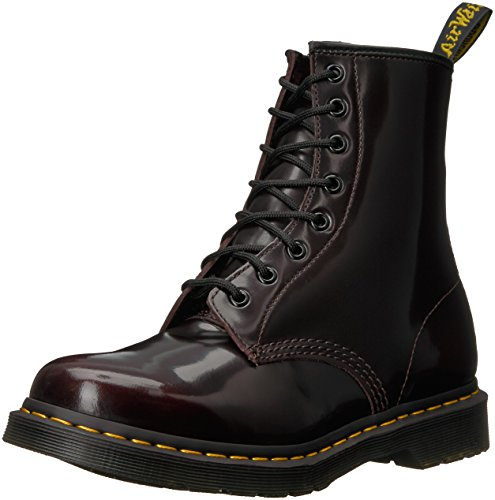 Classic 6 Eye Boot - Dr. Martens Womens 1460W Originals Eight-Eye Lace-Up Boot, Cherry Red, 8 M US/6 UK