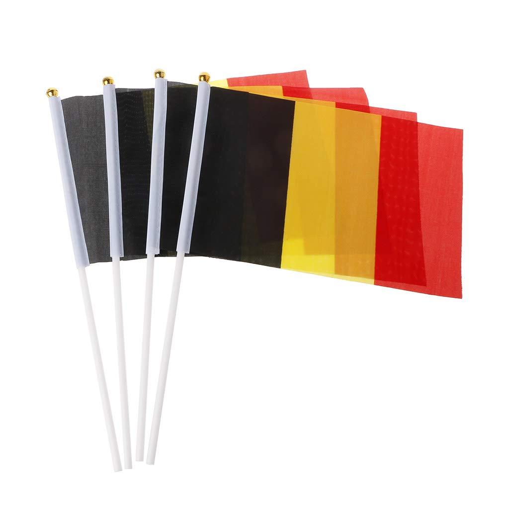 SimpleLife 5 Unids Bélgica Mano Agitando Banderas Bandera Nacional Decoración Al Aire Libre Actividades Ornamento
