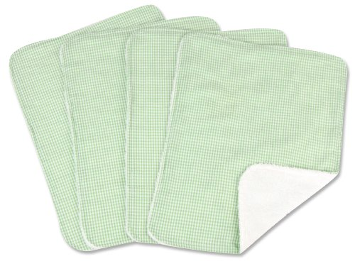 - Trend Lab 4 Pack Burp, Gingham Seersucker Sage