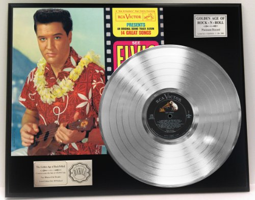 """Elvis Presley""""Blue Hawaii"""" Platinum LP Record LTD Edition Award Style Collectible Display from Gold Record Outlet"""