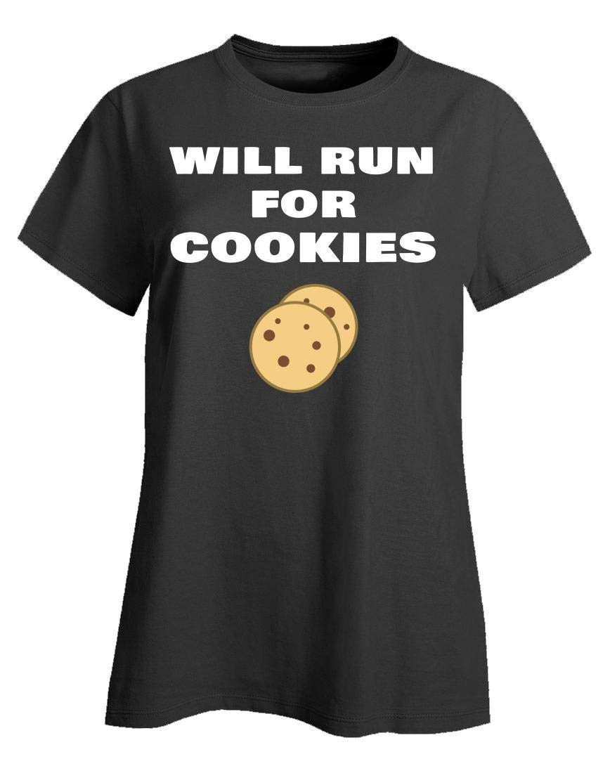 Vfm Shop Will Run For Cookies Funny Running Quote Runner Slogan Gift For T Shirt 6069
