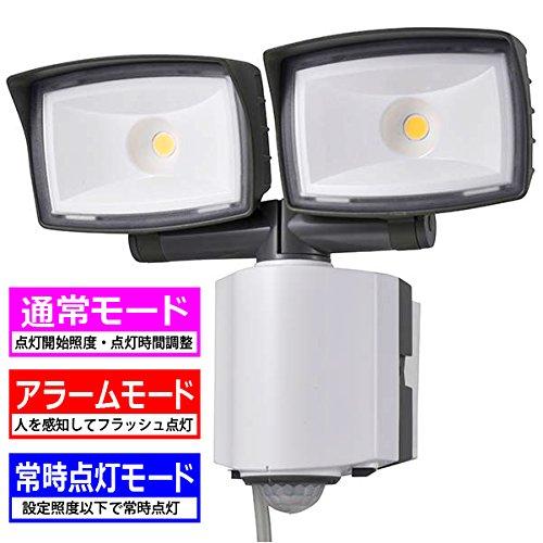 オーム電機 センサーライト LEDセンサーライト ledライト 選べる点灯3モード 2灯 2灯 ledライト 2200lm コンセント式 コンセント式 B073TZ9F9Y, favofavo/ファボファボ:8f77108e --- kanda.ayz.pl