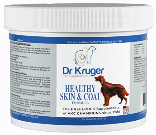 Dr Kruger Pet Supplements Healthy Skin & Coat Formula - 20 Ounces Healthy Skin Shiny Coat