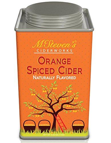 Cider Mix, Naturally flavored Cinnamon Apple, Orange Spiced and Sweet Pear, Mcsteven's Cider Works 6.25 oz. nostalgic tin (Orange Spiced Cider)