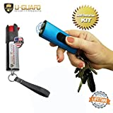 Micro Stun Gun Keychain Pepper Spray Self Defense Kit Bundle. Personal Non Lethal Weapons For Women Or Men. High Volt Rechargeable Key Chain Taser & Key Ring Max Strength Pepper Defence Spray (BLUE)