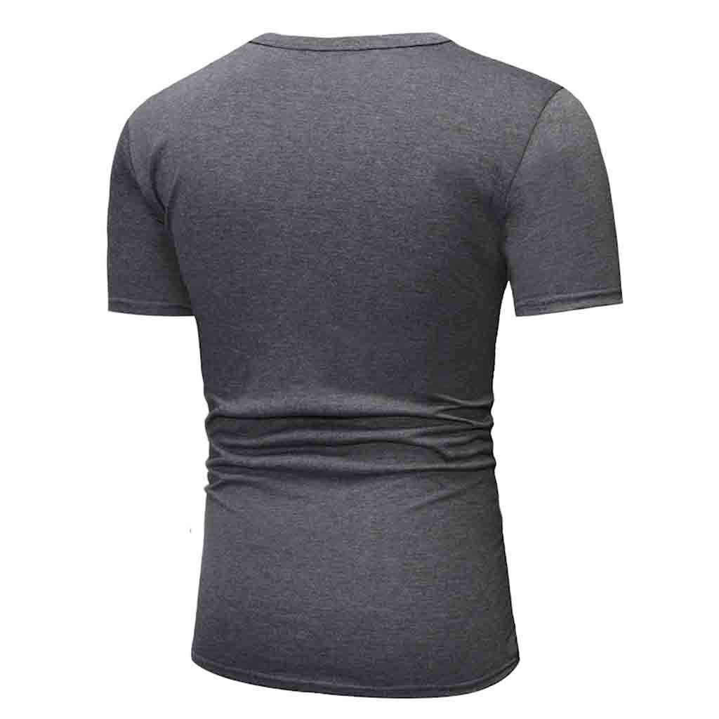 Btruely Camisas Hombre Blusa de Camiseta de Manga Corta Camisetas de impresi/ón de Color s/ólido de Moda Casual para Hombre de Verano Superior Suave y Transpirable Camisa Deportiva Casual Chaleco