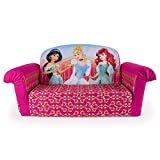 Marshmallow Furniture, Children's 2 in 1 Flip Open Foam Sofa, Disney Princess, by Spin Master